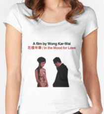 IN THE MOOD FOR LOVE // WONG KAR-WAI Women's Fitted Scoop T-Shirt