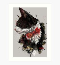 Project Caturday: Mister Pokey Art Print
