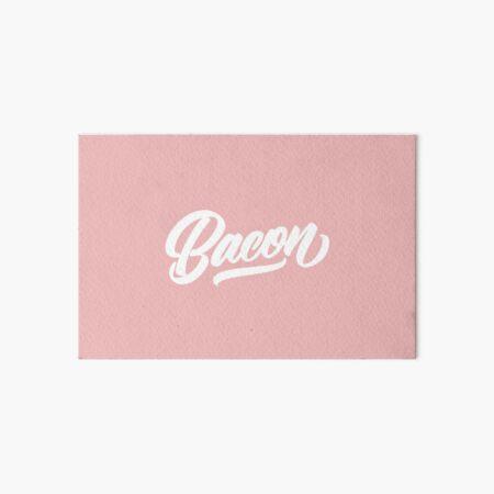 BACON - Hand Lettering Black & White Art Board Print