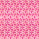 Pink Flower Kaleidoscope Pattern by Cveta