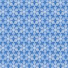 Blue Kaleidosope Drawing Pattern by Cveta