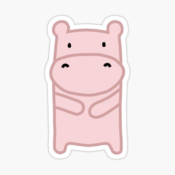 Pink Hippo Sticker