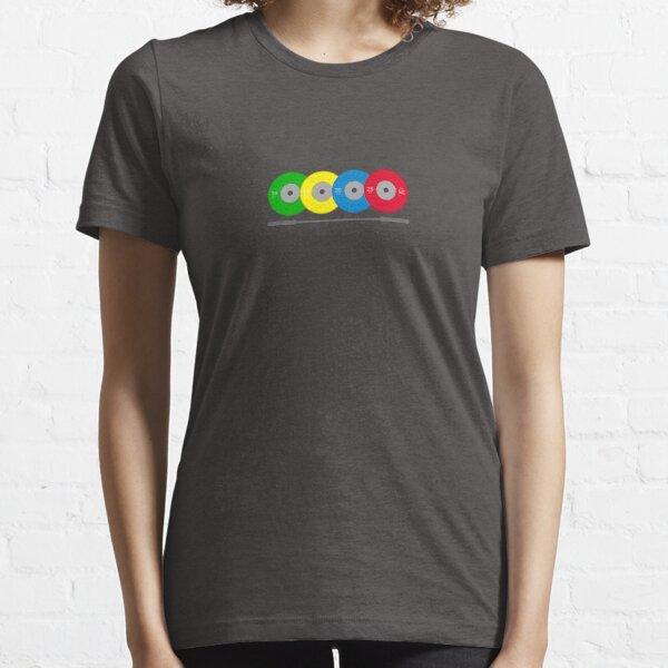 Platos y barra de pesas de competición Camiseta esencial