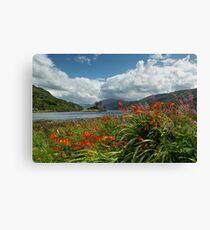 Eilean Donan Castle in Summer. Highland Scotland. Canvas Print