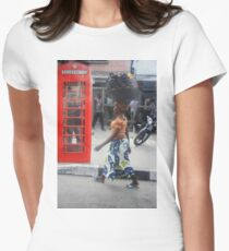 British Telephone Box on Awolowo Road Women's Fitted T-Shirt
