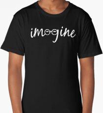 Imagine - John Lennon Tribute Artwork - John's Glasses Long T-Shirt