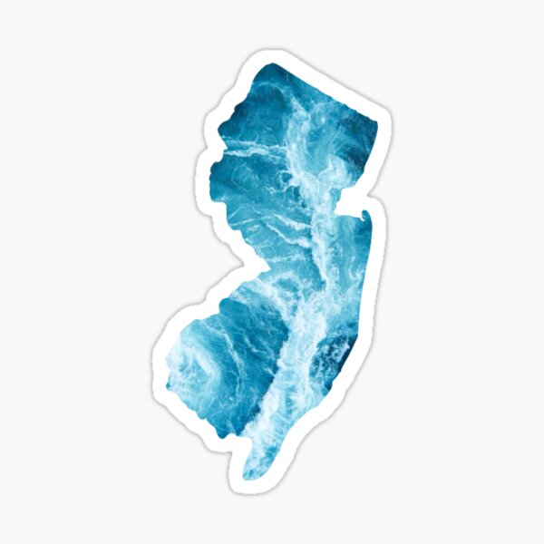 The Shape of New Jersey- The Jersey Shore Sticker