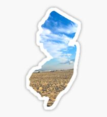 The Shape of the New Jersey- Long Beach Island Sticker
