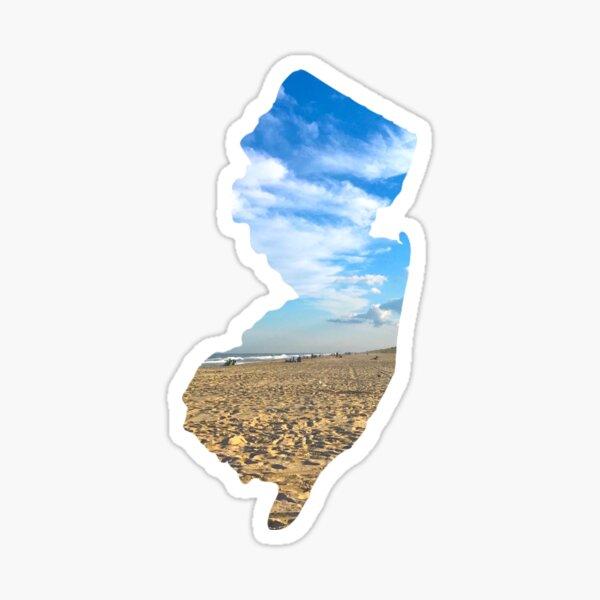 The Shape of the New Jersey- Long Beach Island Sticker