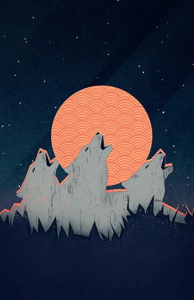 Howling Moon von schwebewesen