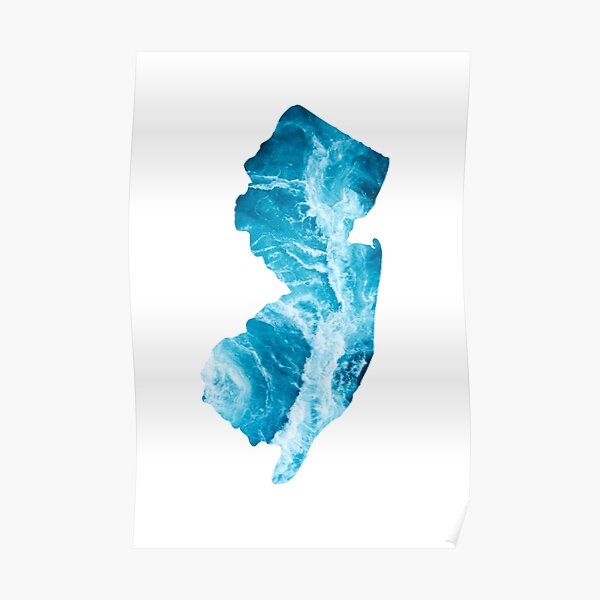 The Shape of New Jersey- The Jersey Shore Poster