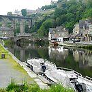 Port of Dinan, River Rance. Britanny. France by hans p olsen