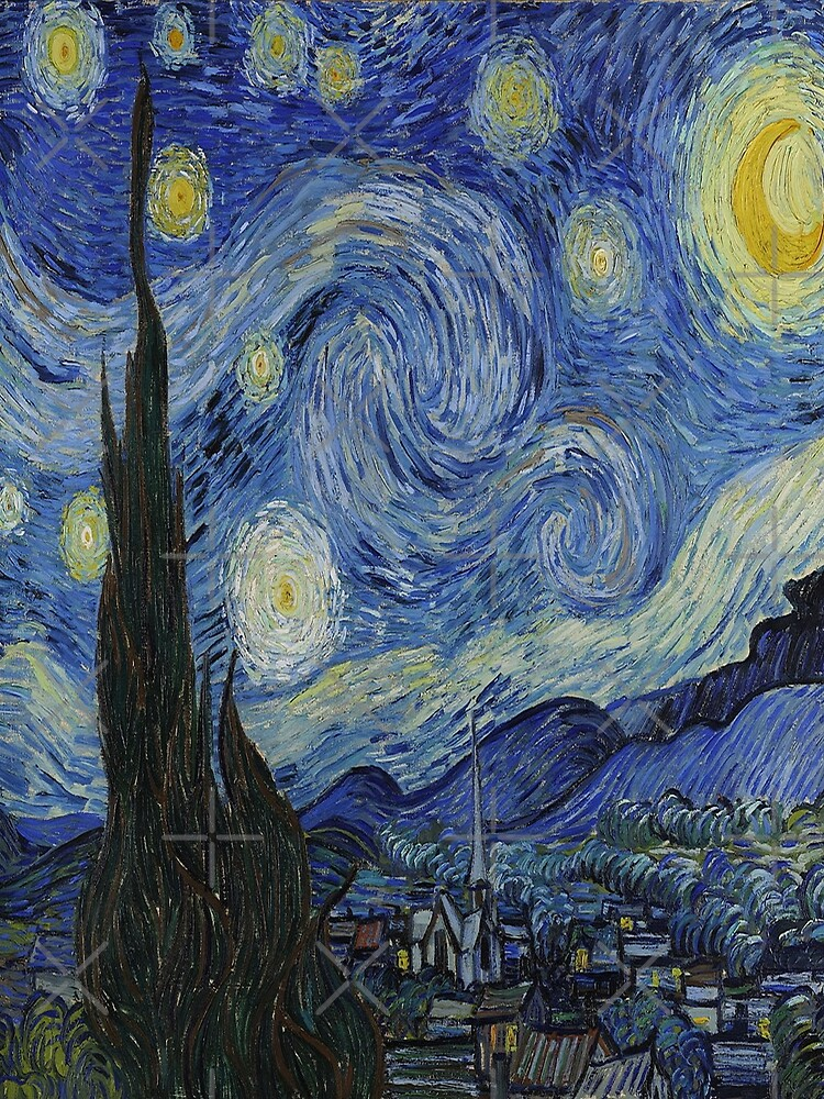 The Starry Night by  Vincent van Gogh by LexBauer