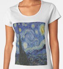 The Starry Night by  Vincent van Gogh Women's Premium T-Shirt