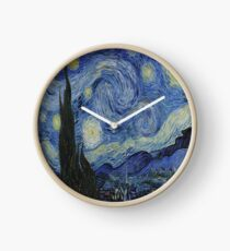 The Starry Night by  Vincent van Gogh Clock