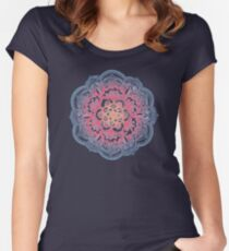 Radiant Medallion Doodle Women's Fitted Scoop T-Shirt