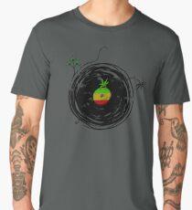 Reggae Music - Vinyl Records Cannabis Leaf - DJ inspired design Men's Premium T-Shirt