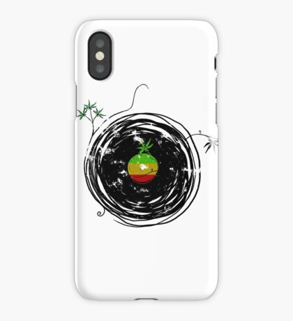 Reggae Music - Vinyl Records Cannabis Leaf - DJ inspired design iPhone Case/Skin