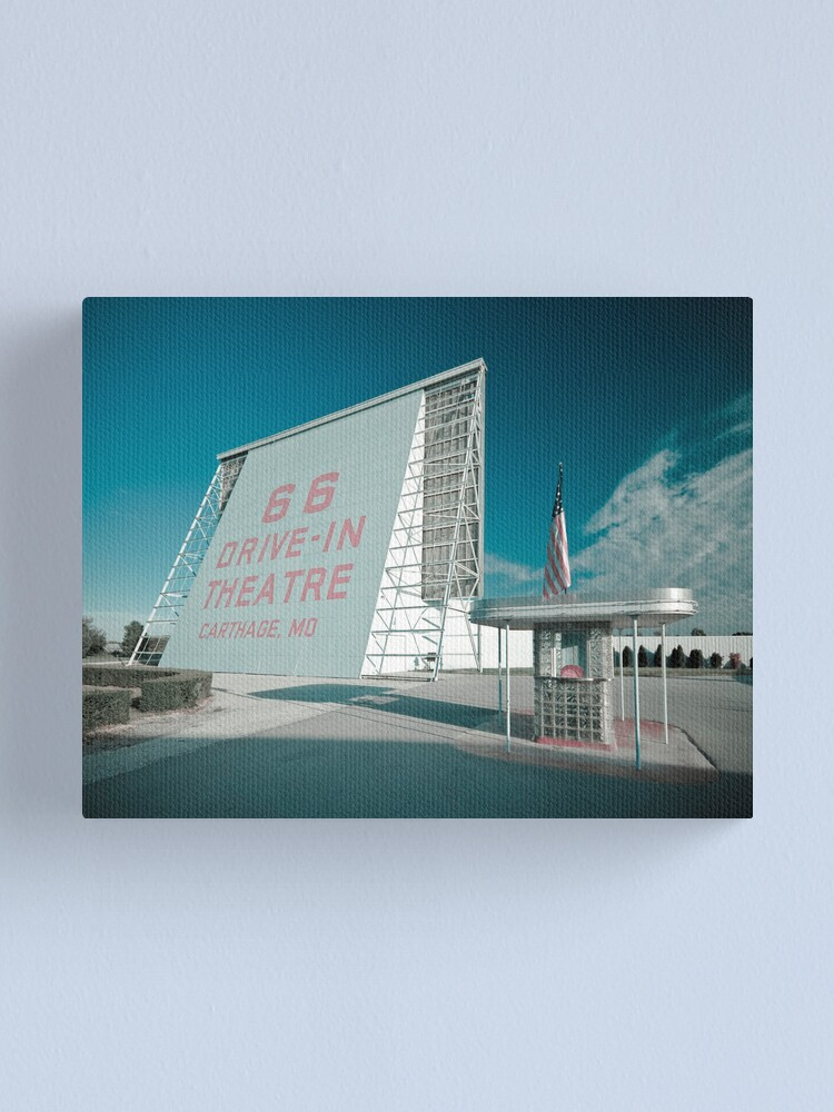 Alternate view of Route 66. Drive-in Cinema. Carthage. Canvas Print