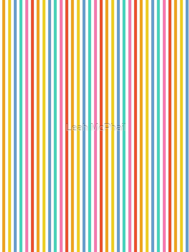 Party Stripe Pattern by LeahMcPhail