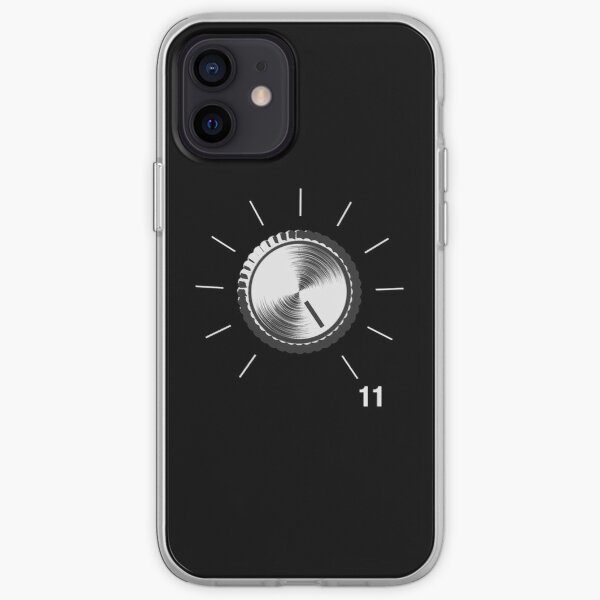 These Go To Eleven - Volume Knob - Guitar print iPhone Soft Case