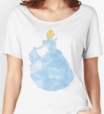 Princess blue watercolor Women's Relaxed Fit T-Shirt