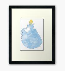 Princess blue watercolor Framed Print