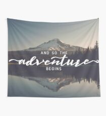And So The Adventure Begins - Woods Trees Forest Mountain Wall Decor Wall Tapestry