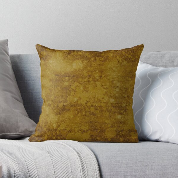 Old gold wall with splatter Throw Pillow