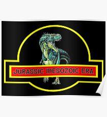 DINOSAURS : Jurassic Mesozoic Era Print Poster