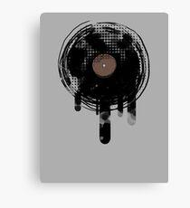 Cool Melting Vinyl Records Retro Music DJ! Canvas Print