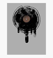 Cool Melting Vinyl Records Retro Music DJ! Photographic Print
