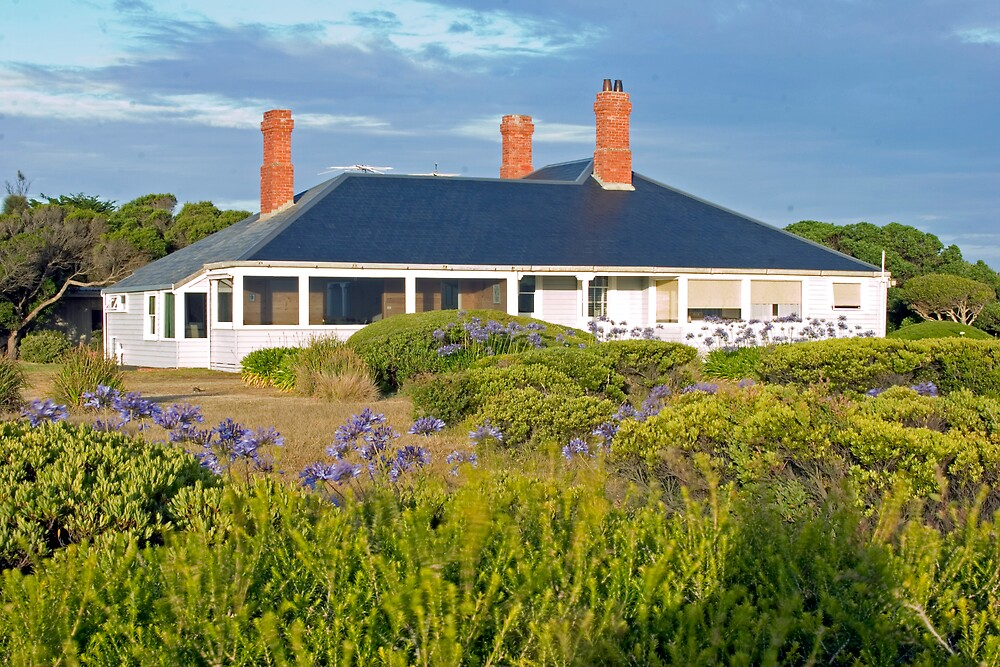 Aireys Inlet lightkeepers house by David Ffrench