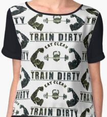 Eat Clean, Train Dirty! -Fitness Motivation Women's Chiffon Top