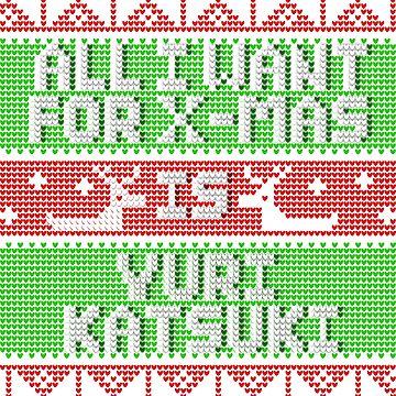 All I Want For Christmas 2016 Design (Yuri Katsuki) by MizSarie