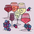 Wine and Grapes v2 by melasdesign