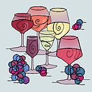Wine and Grapes by melasdesign