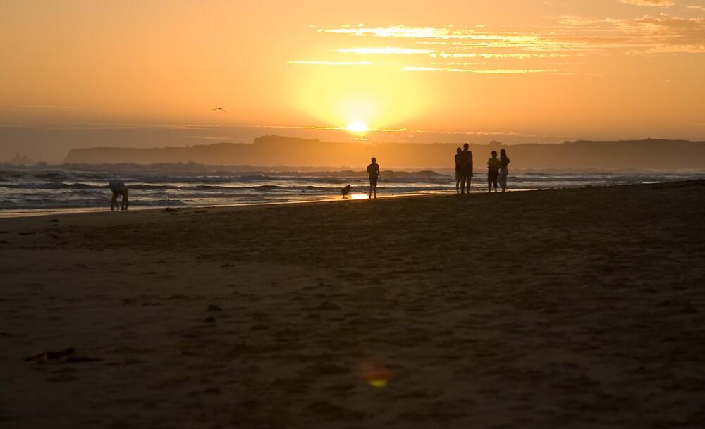 Inverloch sunset by David Ffrench