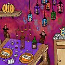 Autumn Table in Candlelight by melasdesign