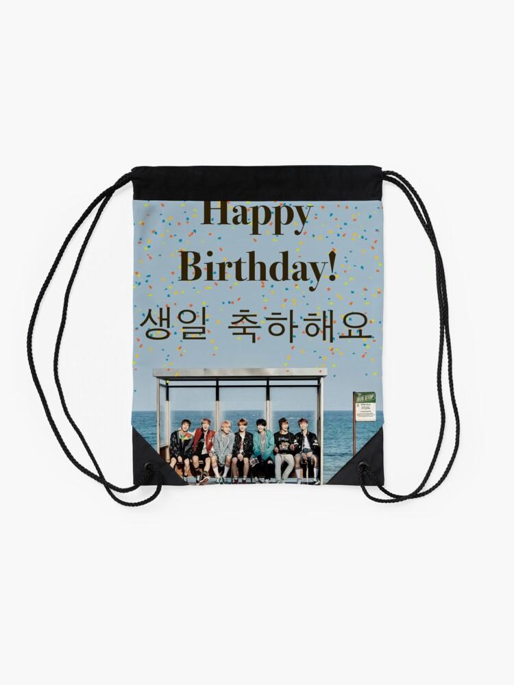 Alternative Ansicht von BTS-Geburtstags-Karte Turnbeutel