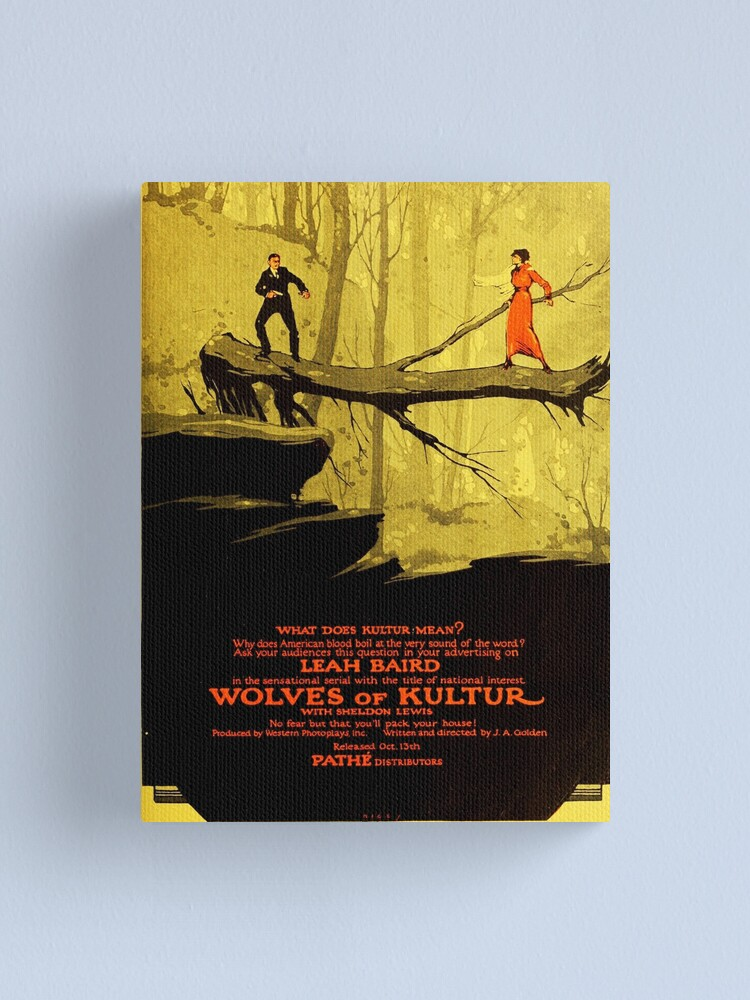 Alternate view of Wolves of Kultur (1918) Silent movie Canvas Print