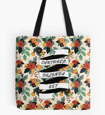 Carthago Delenda Est - Floral Tote Bag