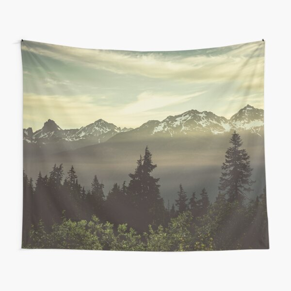 Pacific Northwest Sunrise - Northern Cascade Mountain Forest Tapestry