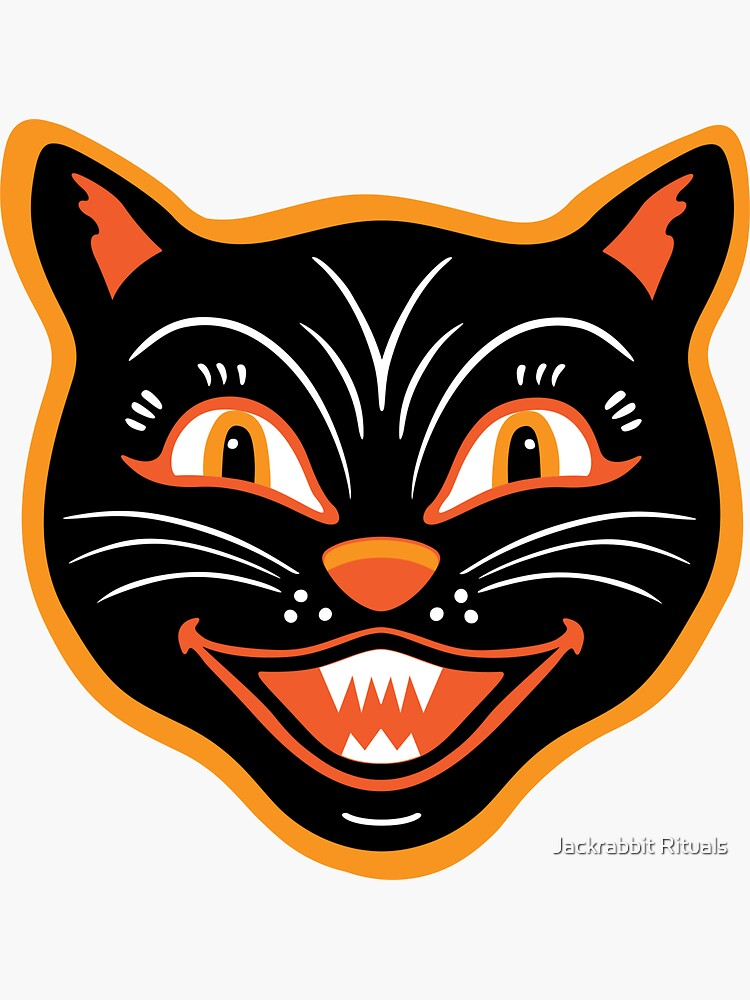 Halloween Vintage Black Cat by CreativeFit