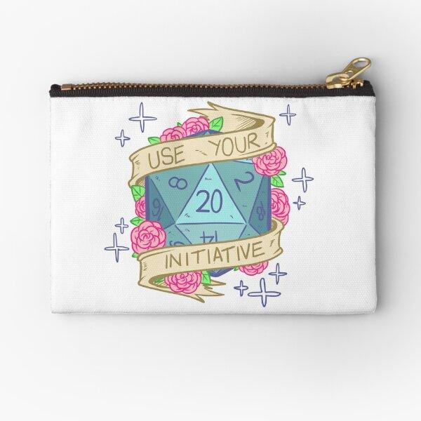 D20 - Use Your Initiative Zipper Pouch