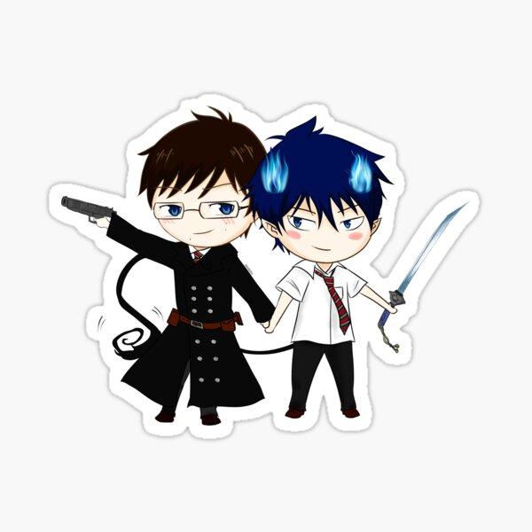 Rin & Yukio Chibi! Sticker