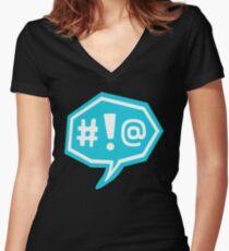 Backtalk! - Life is Strange Women's Fitted V-Neck T-Shirt