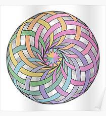 Rainbow rosette Poster