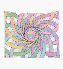 Rainbow rosette Wall Tapestry