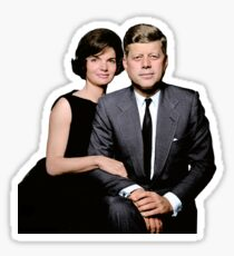 JFK and Jackie Sticker